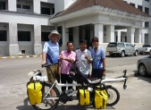 Paul, Natt, Por and his boss in front of City Hall of Phatthalung