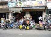 in front of the bicycle shop Phatthalung
