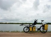 with the bicycle on the way to Samut Prakarn