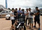 with TV crew Why Thailand