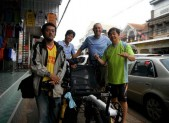 With Pele and President of Bicycle club in Nong Khai