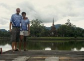 us in old city in Sukhothai